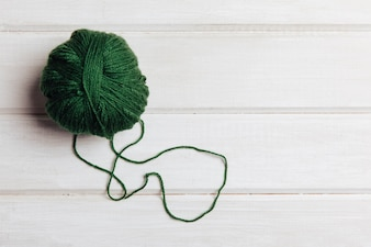 Green wool ball