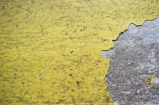 緑色の黄色の背景セメント。