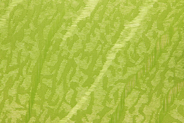 Green yellow fabric blind curtain texture