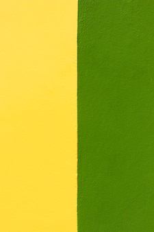 Green and yellow wall background
