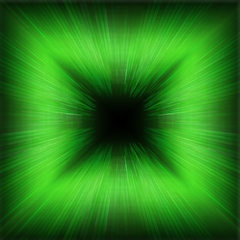 Green zooming wave effect background