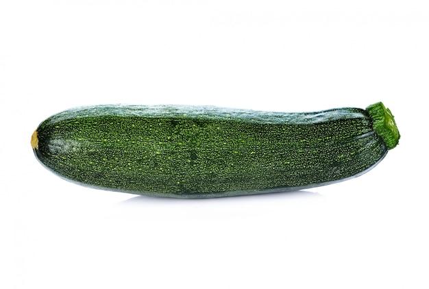 흰색 배경에 녹색 호박