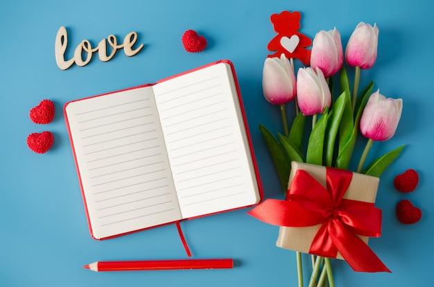 バレンタインデー、女性の日、または母の日のグリーティングカード。