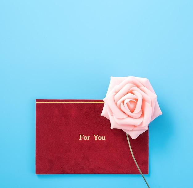 Открытка для вас, с розовой розой, подарок на день святого валентина или юбилей