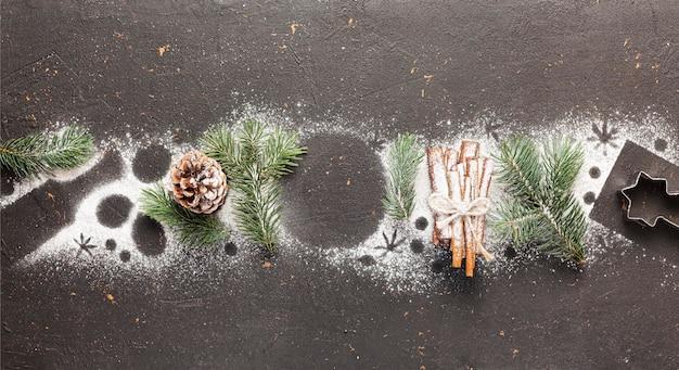 グリーティングカード明けましておめでとうございます2021年とメリークリスマス