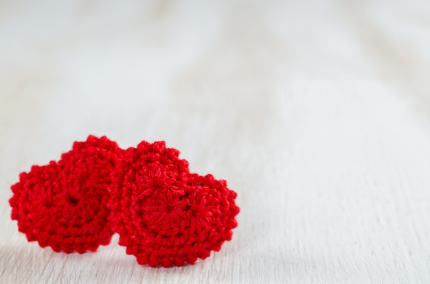 Greeting card for valentine's day with red hearts