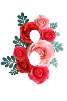 꽃 장식으로 인사말 카드입니다.