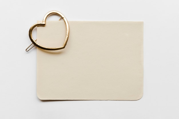 Greeting card with hook in heart shape