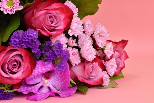 Greeting card for women's day.  glamorous simple design with vibrant flowers.