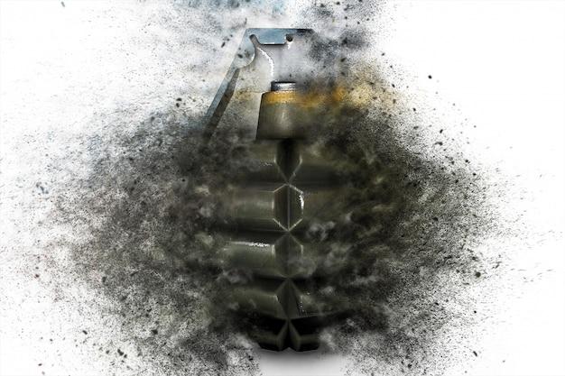 Граната во время взрыва