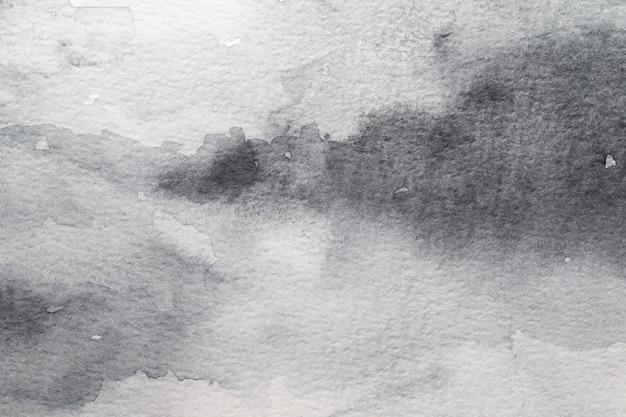 회색 추상 수채화 배경입니다. 종이에 그림