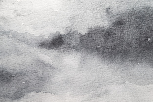 Grey abstract watercolor background. painting on paper