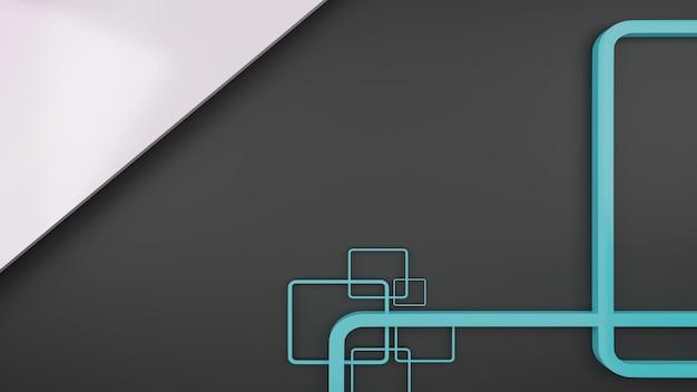 회색과 파란색 모양 추상적 인 배경 3d 렌더링