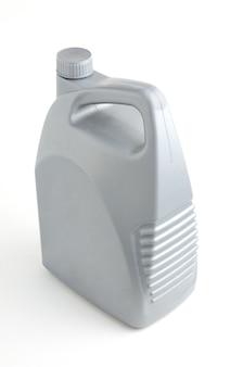 Grey barrel on isolated white background