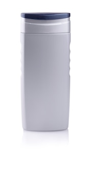 シャンプーの灰色のボトル