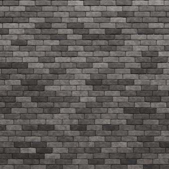 Серая предпосылка текстуры кирпичной стены. 3d-рендеринг.