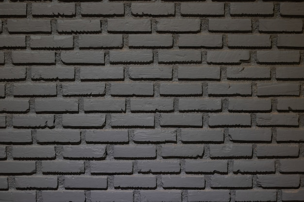 Grey color brick wall for background