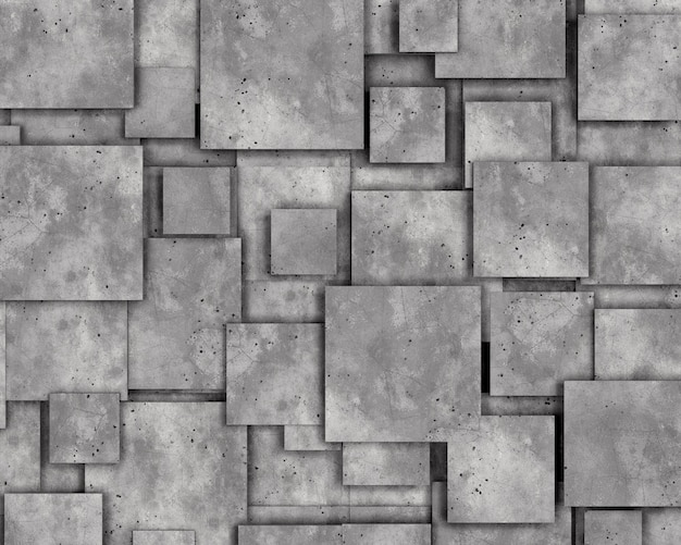 Grey concrete wall as background. 3d rendering.