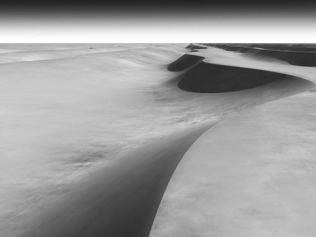 회색 모래 언덕 d 렌더링 디자인 요소 backgroun