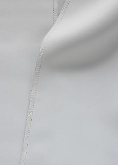 Grey fabric with seam