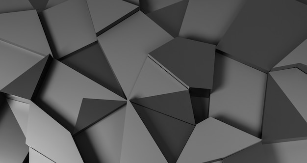 Grey geometrical shapes background