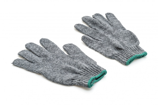 Grey gloves isolated