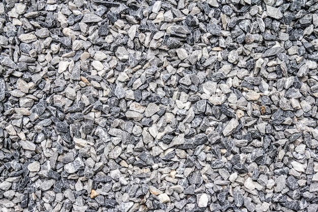 Grey gravel stone texture background