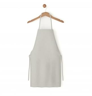 Grey isolated apron