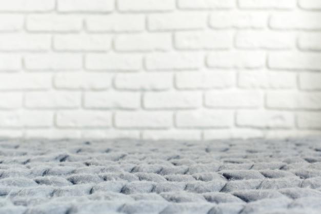 Grey knit giant plaid