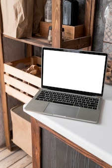 Grey laptop on a table