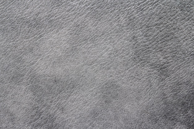 Серая кожаная текстура крупным планом