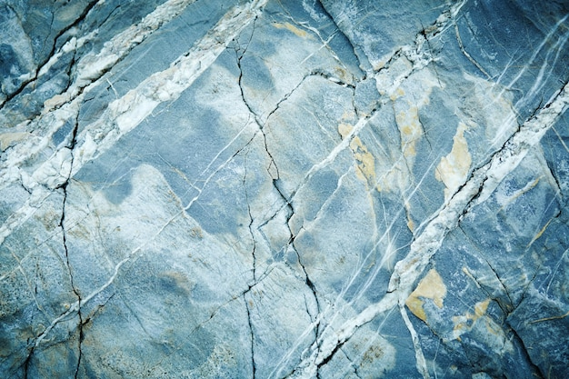 グレーライトブルー大理石花崗岩石スラブ表面