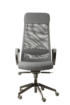 Grey office chair isolated on white