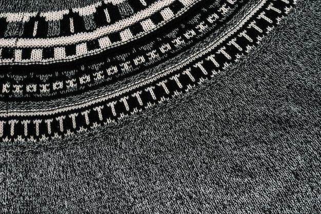 Grey pattern textile