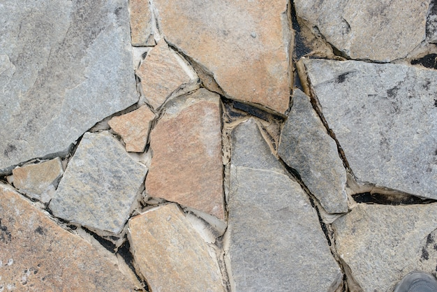 Grey pieces of stone background
