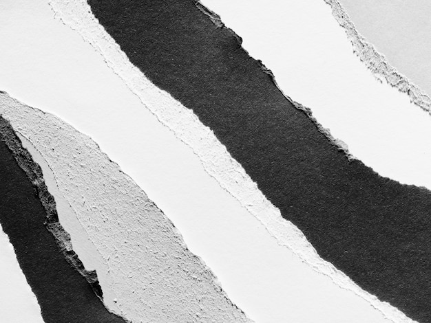 Grey scale torn paper layers