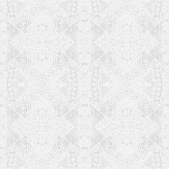 グレーのシームレスプリント。シルバーエンドレスライトグレー華やかな無限のテクスチャ。白亜のモダンなデザイン。シルバーのエンドレス背景。アステカテクスチャ。