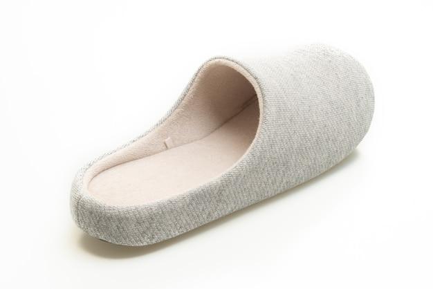 흰색 배경에 고립 된 회색 구두