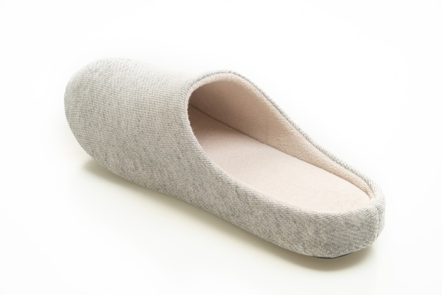 Grey slipper isolated on white