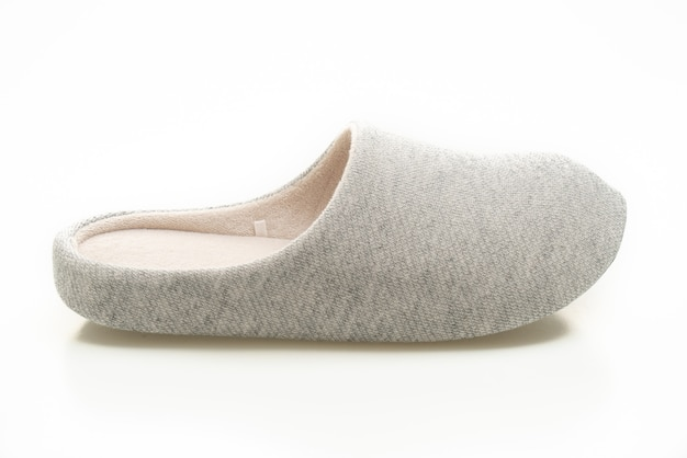 Grey slipper isolated