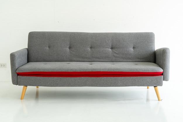 Grey sofa in living room