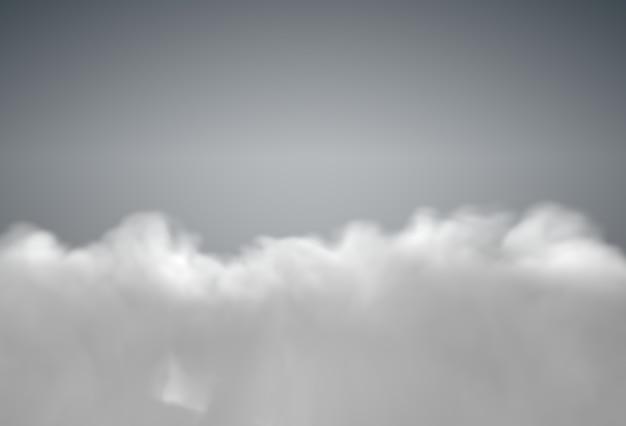 Серое грозовое небо, покрытое дождливыми облаками