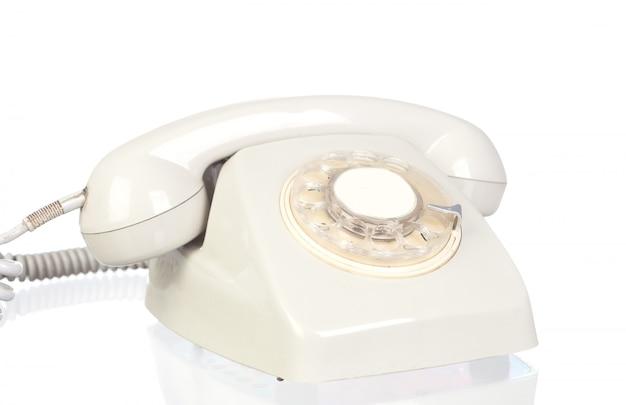 Grey vitntage telephone
