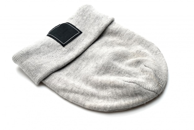 Grey wool hat