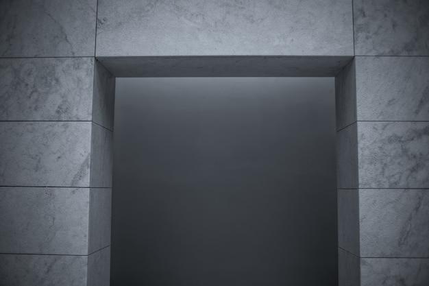 조명 아래 벽의 회색조-배경 및 배경 화면에 적합