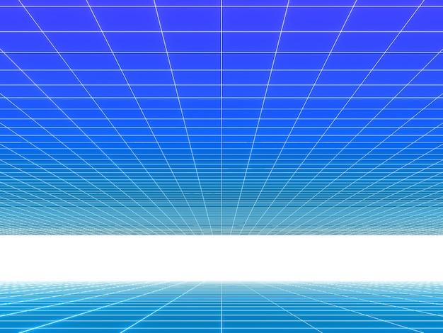 그리드 라인 그라디언트 네온 컬러 80 년대 기술