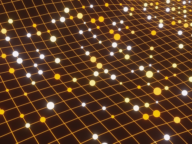 Сетка частиц абстрактный фон науки