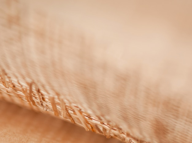 Grid of wooden rods on a blurred background, macro