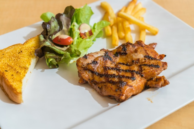 Grill chicken steak