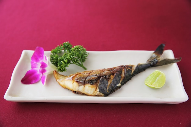 Grill mackarel fish japanese food